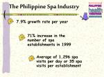 the philippine spa industry