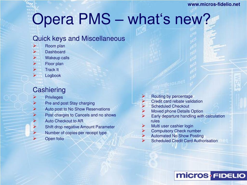 PPT - MICROS - FIDELIO PowerPoint Presentation - ID:226183