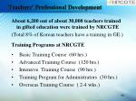 teachers professional development