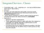 integrated services classes