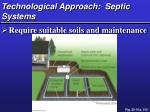 technological approach septic systems