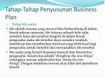 tahap tahap penyusunan business plan