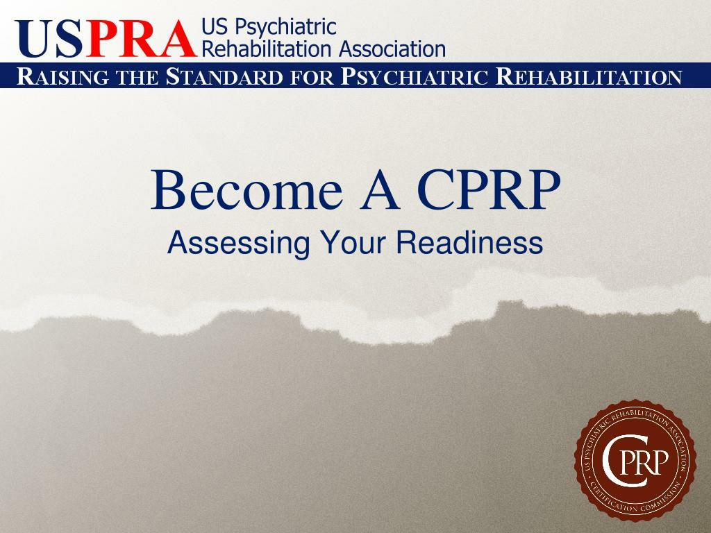become a cprp l.