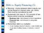 debt vs equity financing 3