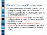 financial leverage considerations