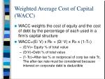 weighted average cost of capital wacc