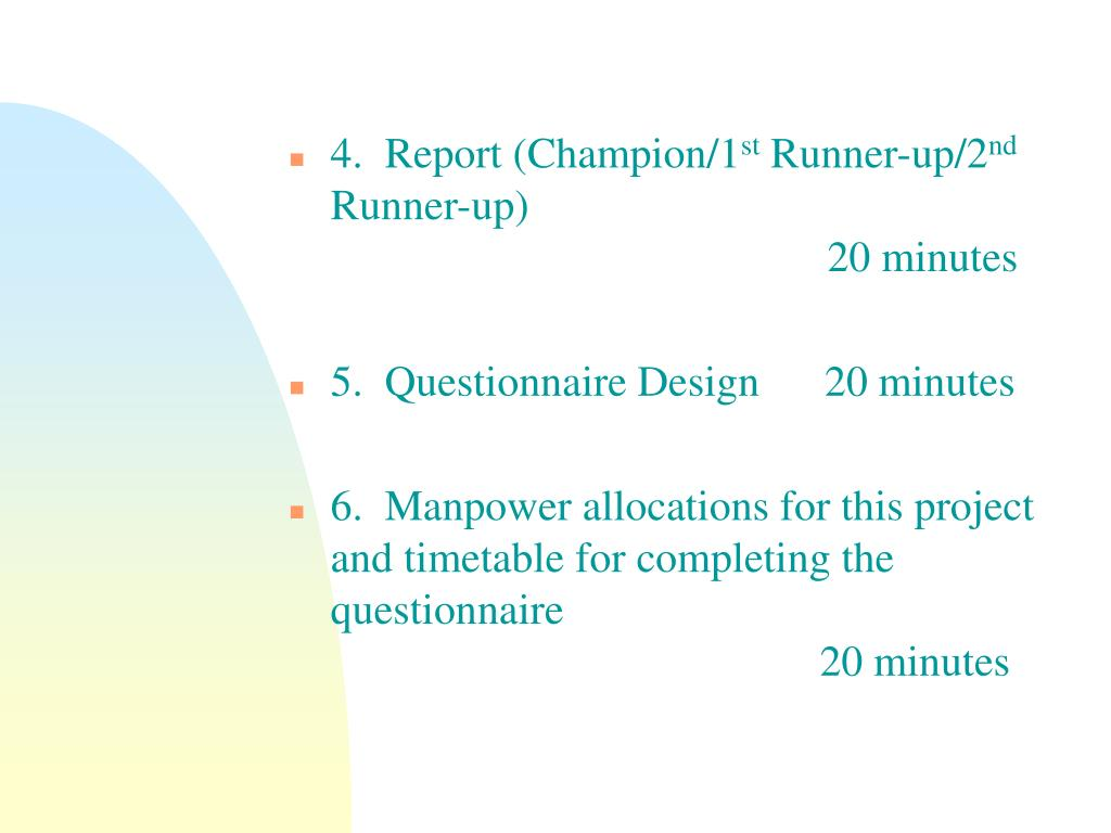 manpower questionnaire