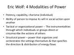 eric wolf 4 modalities of power