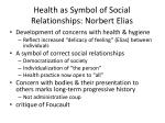 health as symbol of social relationships norbert elias
