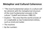 metaphor and cultural coherence