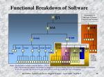 functional breakdown of software