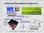 functional breakdown perspectives