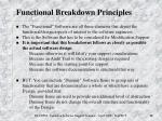 functional breakdown principles