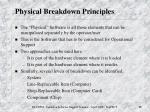 physical breakdown principles
