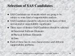 selection of sas candidates