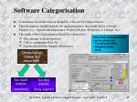 software categorisation
