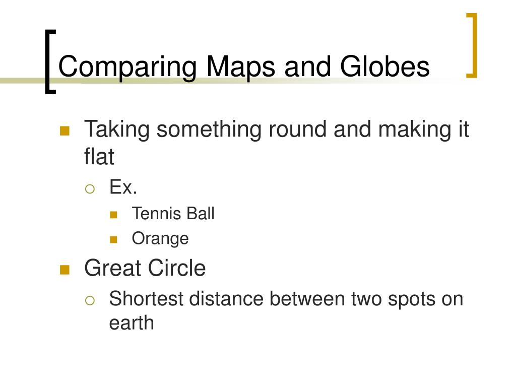 Comparing Maps and Globes