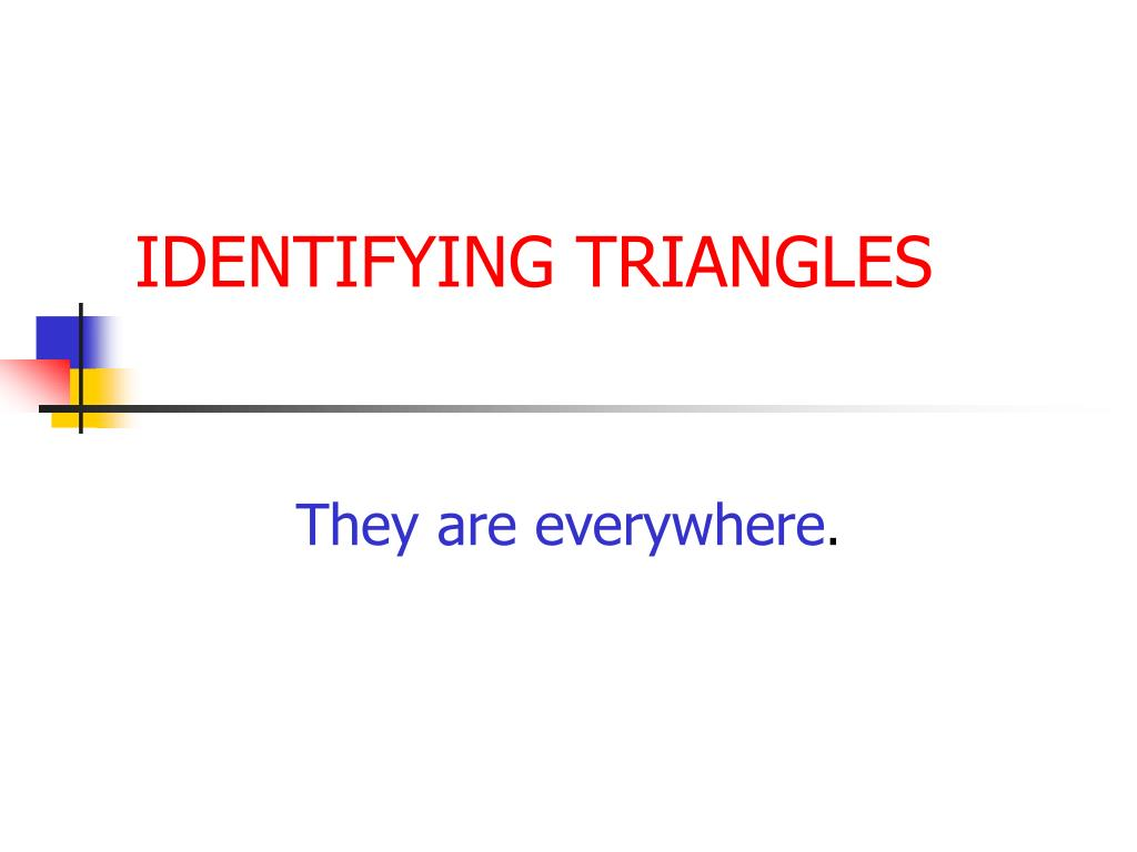 identifying triangles l.
