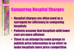comparing hospital charges