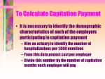 to calculate capitation payment