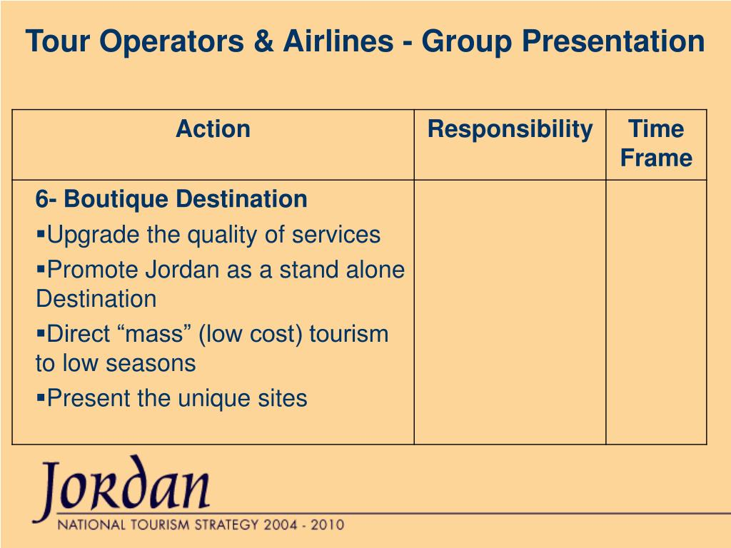 Tour Operators & Airlines - Group Presentation