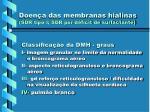 doen a das membranas hialinas sdr tipo i sdr por d ficit de surfactante23