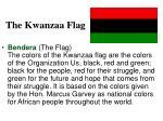 the kwanzaa flag