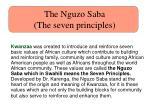 the nguzo saba the seven principles