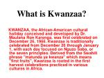what is kwanzaa