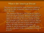 what is the american dream