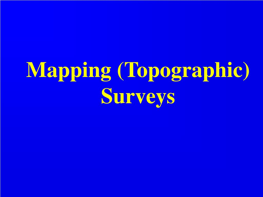 mapping topographic surveys l.