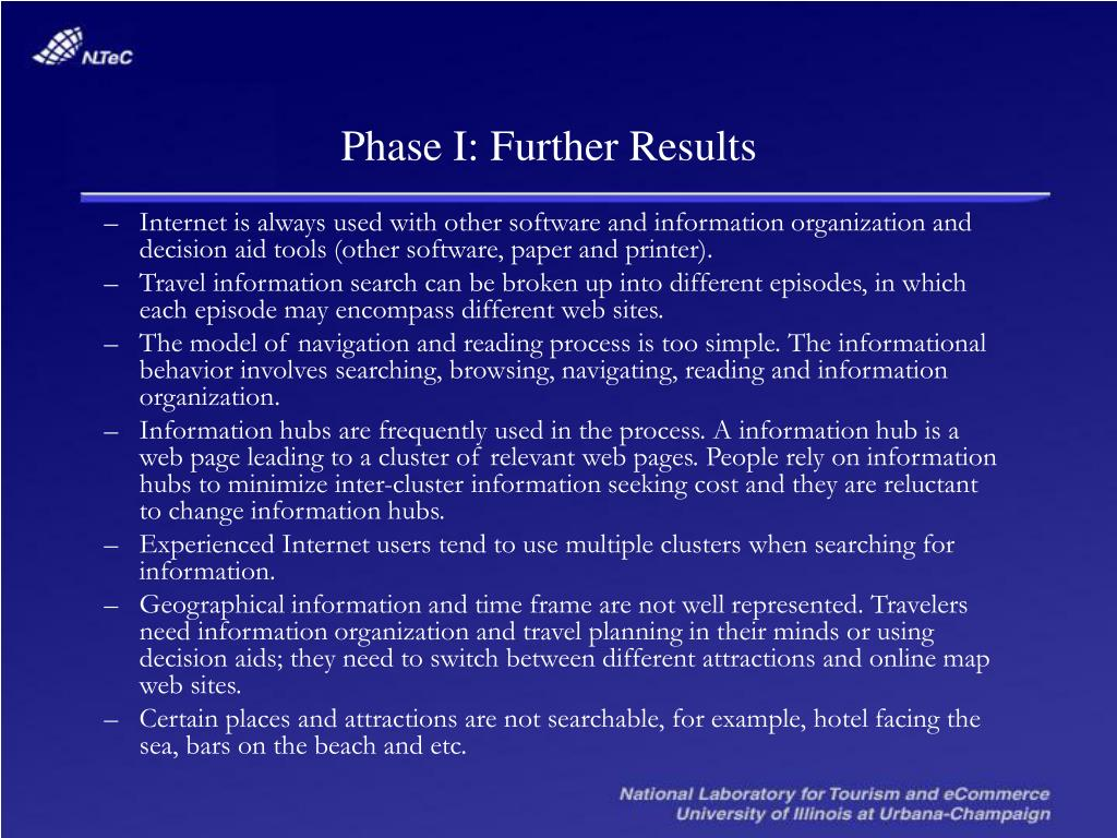 Phase I: Further Results