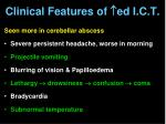 clinical features of ed i c t