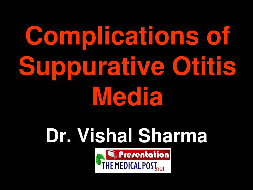 complications of suppurative otitis media l.