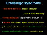 gradenigo syndrome