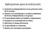 aplicaciones para la instrucci n