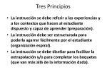 tres principios