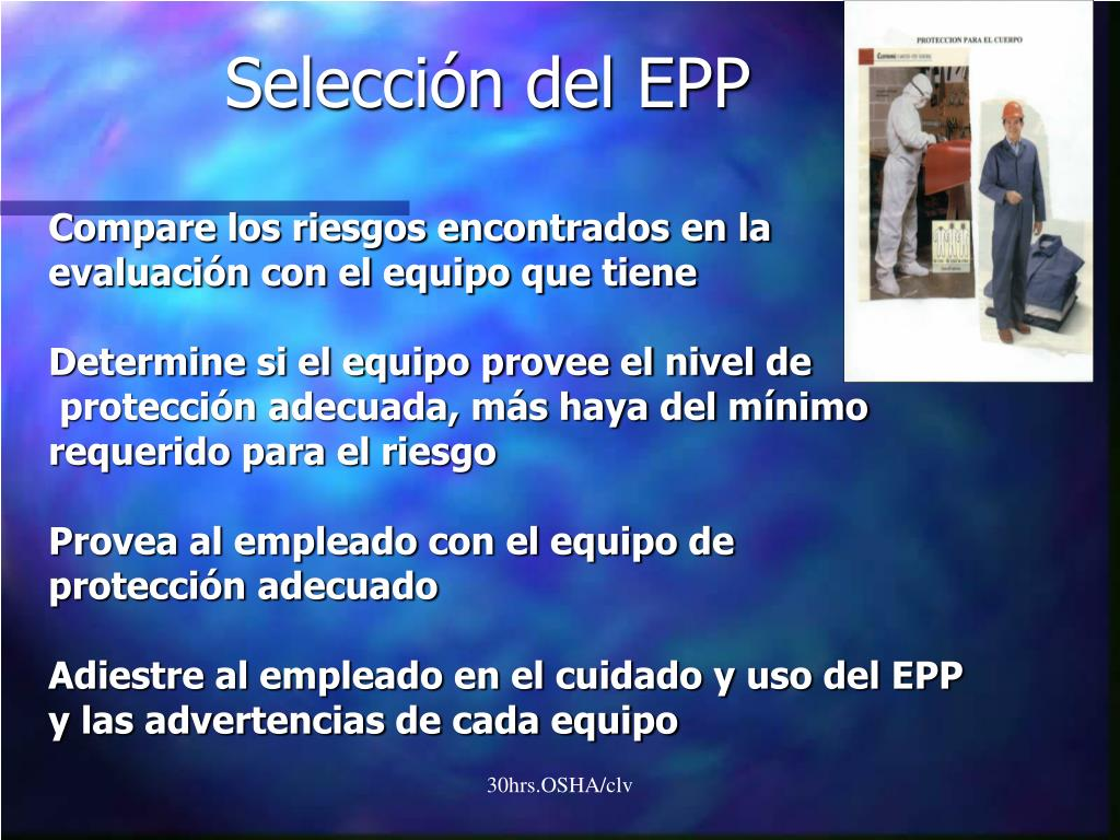 Selección del EPP