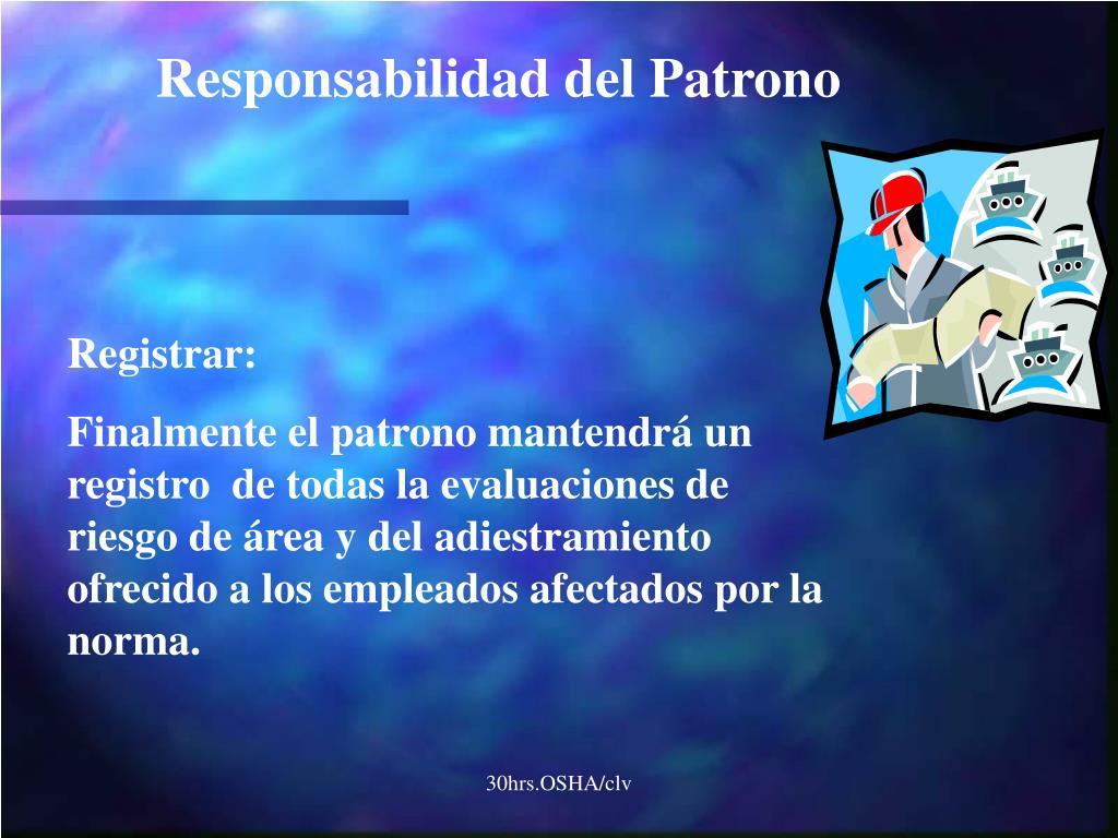 Responsabilidad del Patrono