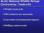 arctic national wildlife refuge controversy trade offs