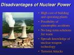 disadvantages of nuclear power