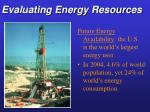 evaluating energy resources10