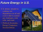 future energy in u s
