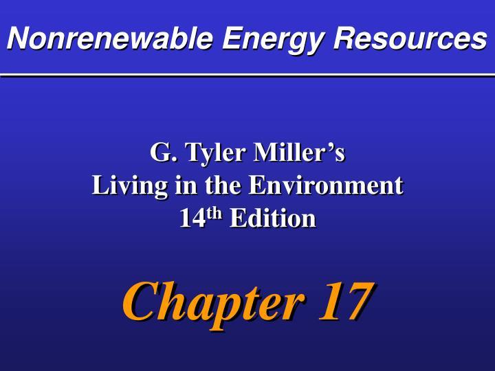 nonrenewable energy resources n.
