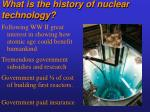 what is the history of nuclear technology