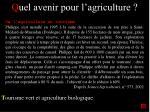 q uel avenir pour l agriculture16