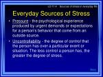 everyday sources of stress12