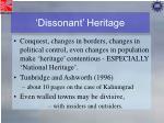 dissonant heritage