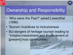 ownership and responsibility