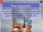 piran declaration